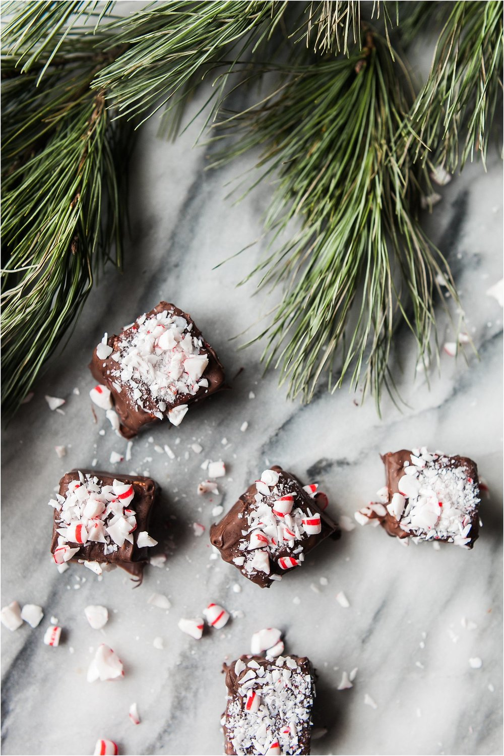 Homemade Chocolate & Peppermint Covered Marshmallows | Feast & Dwell