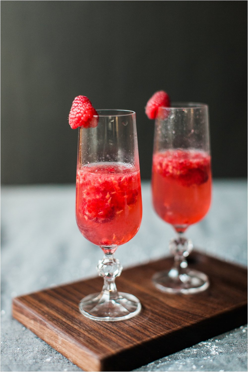 Raspberry Champagne Cocktail | Feast & Dwell
