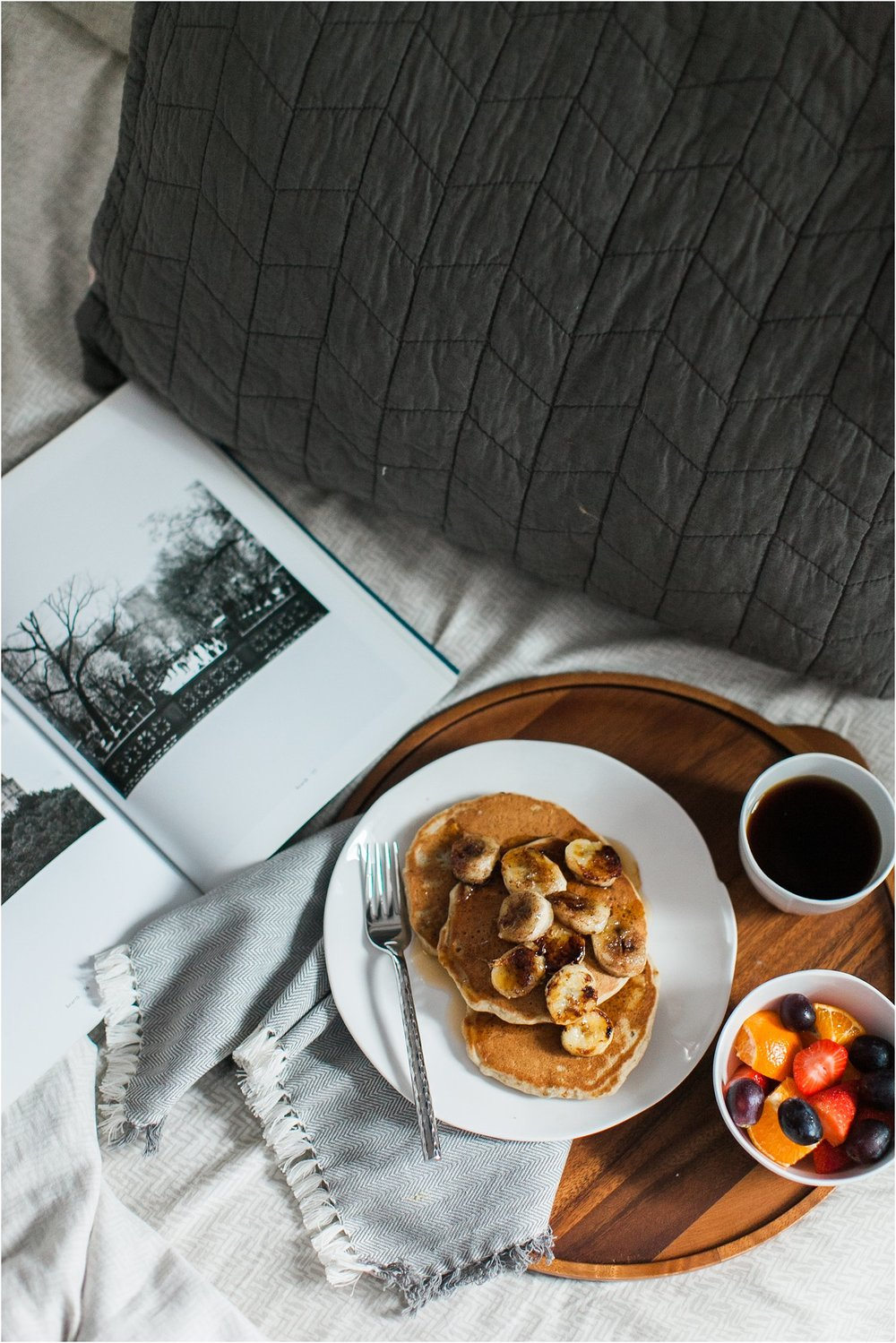 2017-01-Breakfast in Bed | Gluten Free Banana Pancakes with Caramelized Cinnamon Bananas | Feast & Dwell