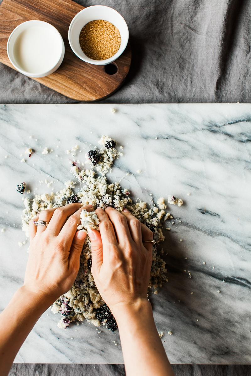 Gluten Free Blackberry Cream Scones | Feast & Dwell