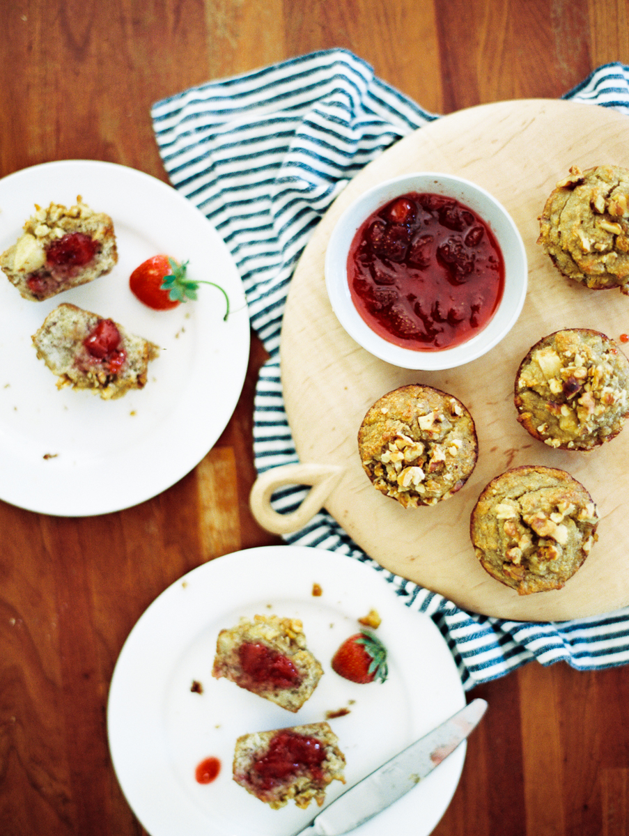 Gluten Free Banana Almond Muffin Recipe - Breakfast recipe - gluten free recipe - muffin recipe - gluten free muffins