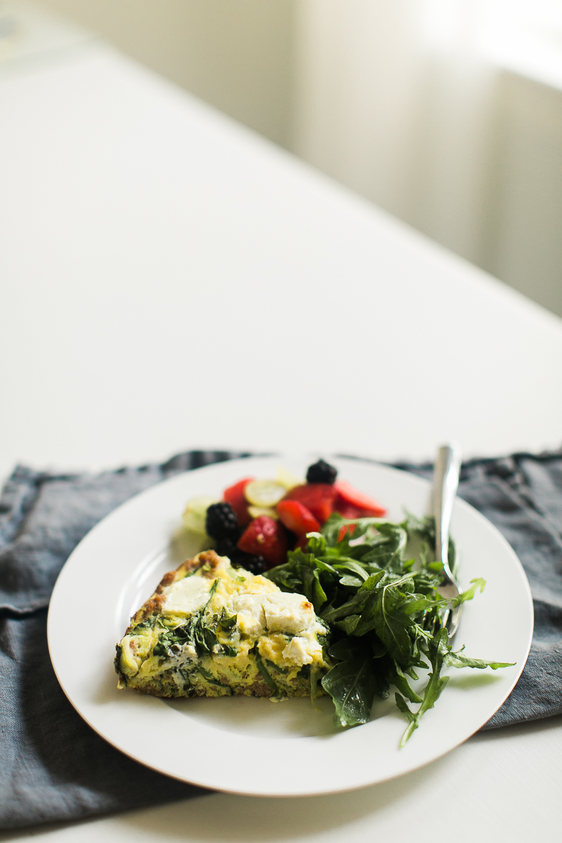 Turkey Sausage & Goat Cheese Frittata with Leeks and Mint | Easy Breakfast Recipe | Frittata Recipe