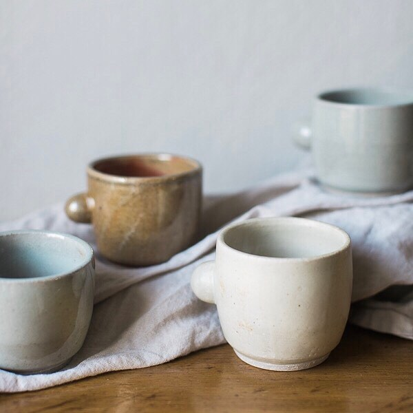 "Shop small and take 20% off the entire shop in honor of Small Business Saturday. These handmade ceramic mugs are probably one of my favorite things in the shop right now. We tend to have ""go-to"" mugs in our house and these are definitely now on the short list. They are pretty enough to have sitting out so you can grab them when you have an aching for a cup of tea. Now excuse me while I go make a cup of coffee in mine ❤"
