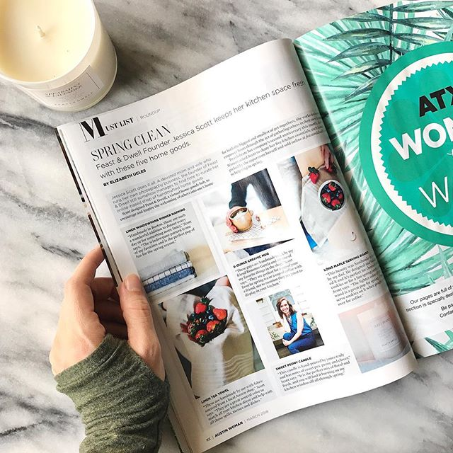 No better way to celebrate #internationalwomensday than by opening up a copy of @austinwoman and seeing Feast & Dwell featured in the pages amongst some other incredible women. Talking about my 5 favorite F&D products for Spring! So humbled to be a part of their entrepreneur issue that came out last week! Go grab a copy!