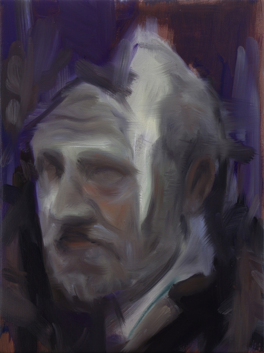 The Traveller, Oil on linen, 40 x 30cm, 2015