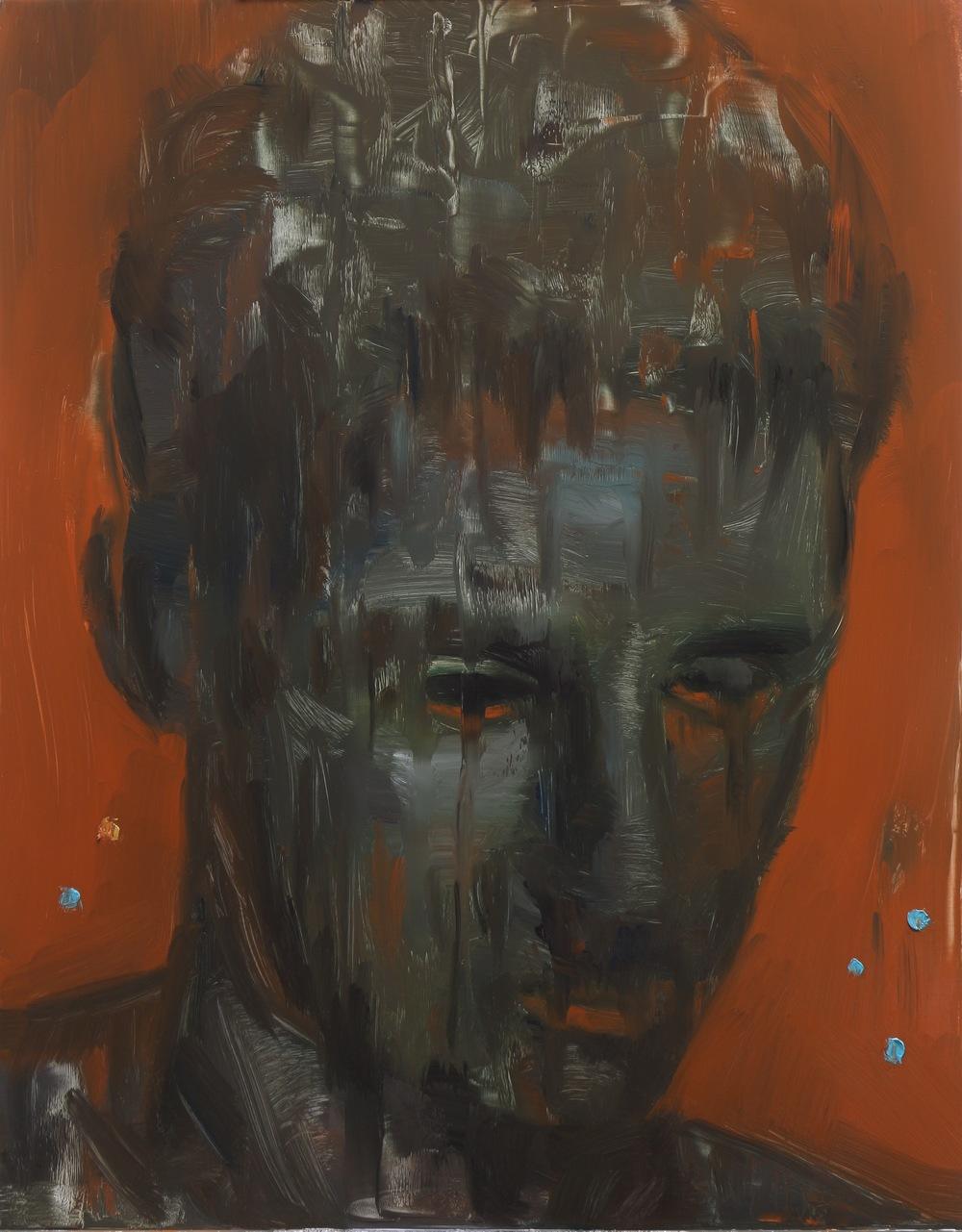 Guardian, Oil on aluminium, 36 x 28cm, 2015