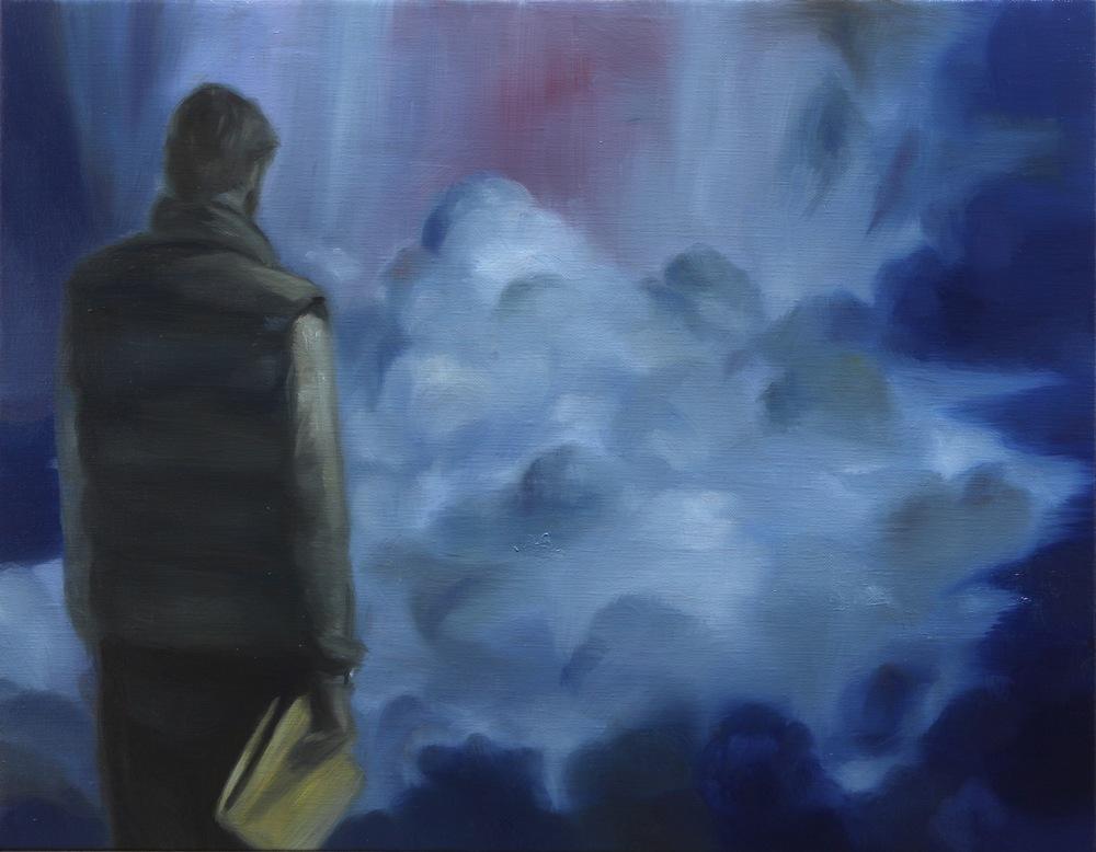 The Good Salesman, Oil on linen, 35 x 45cm, 2015