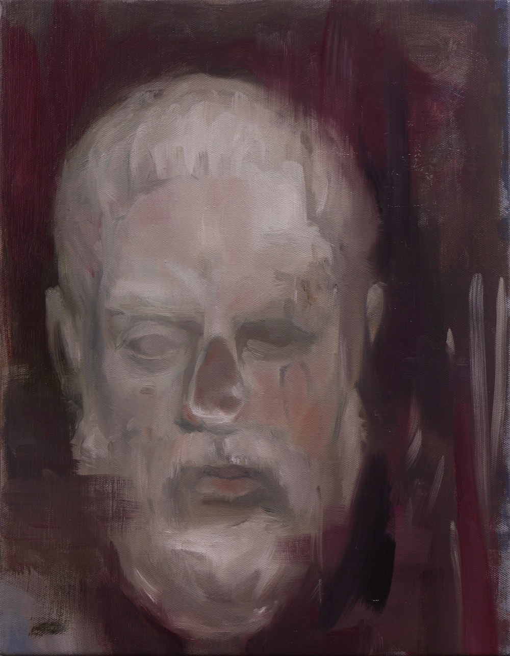 The Example, Oil on linen, 50 x 40cm, 2015