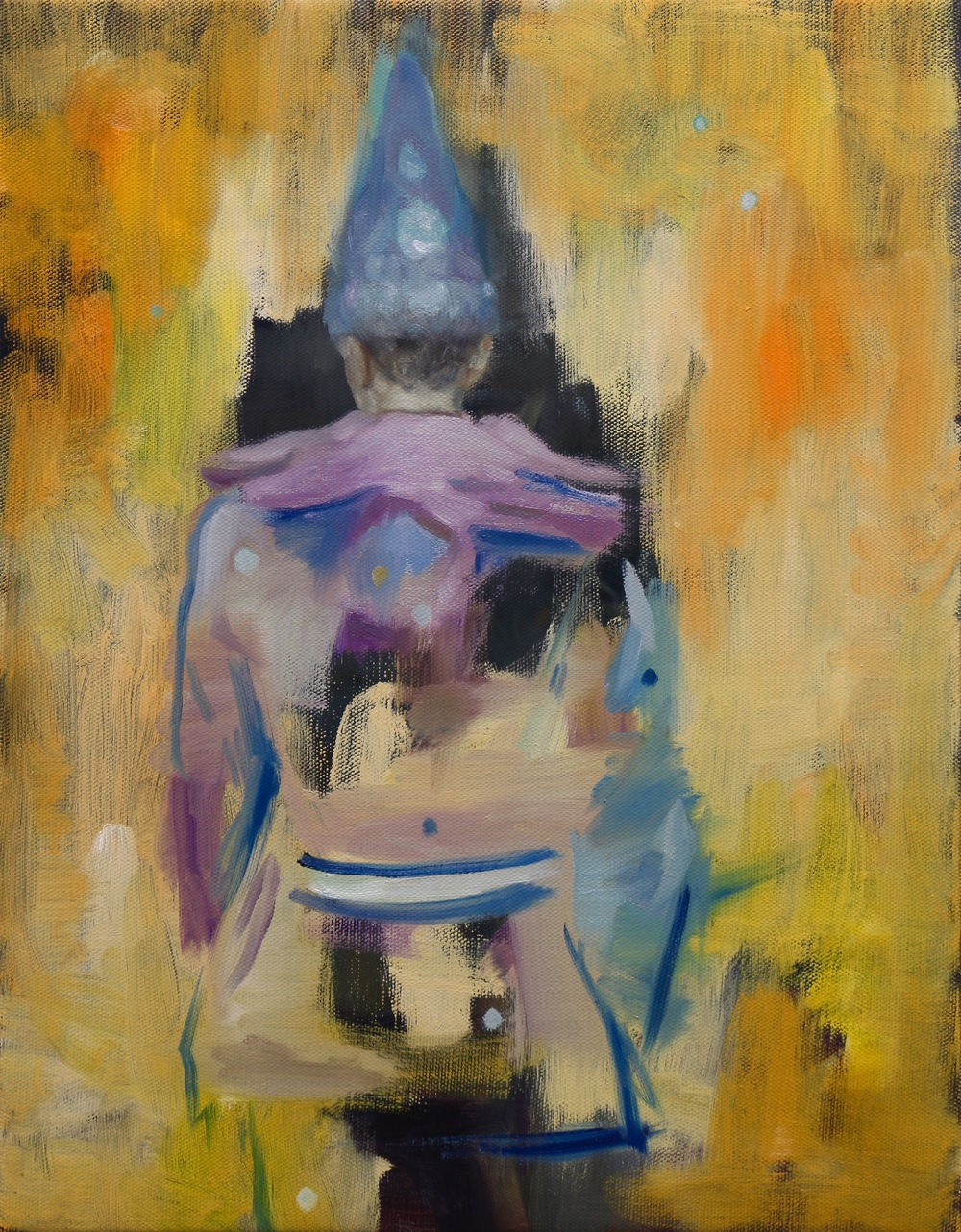 The Yellow Curtain, Oil on linen, 45 x 35cm, 2015
