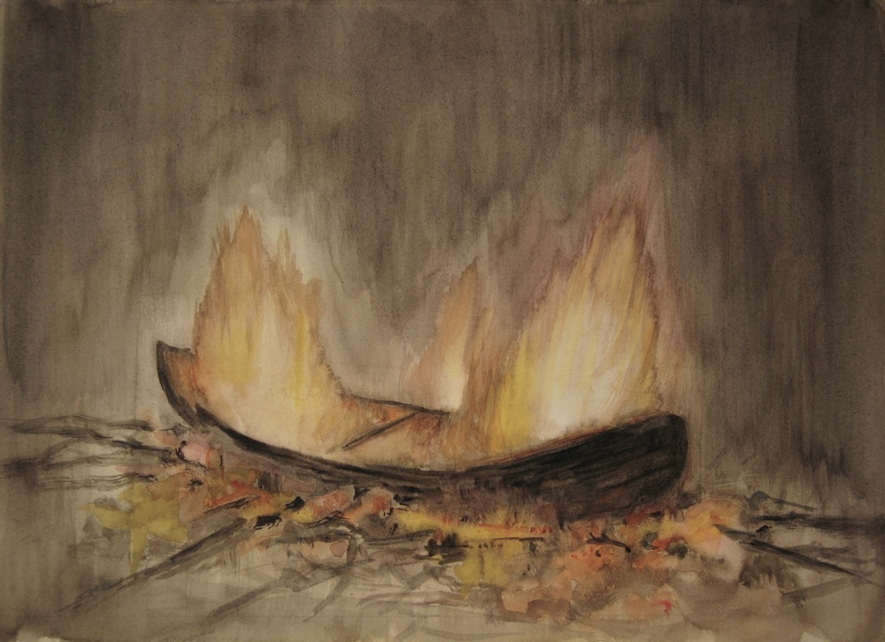 The First Ritual, Watercolour on paper, 34 x 24.5cm, 2011