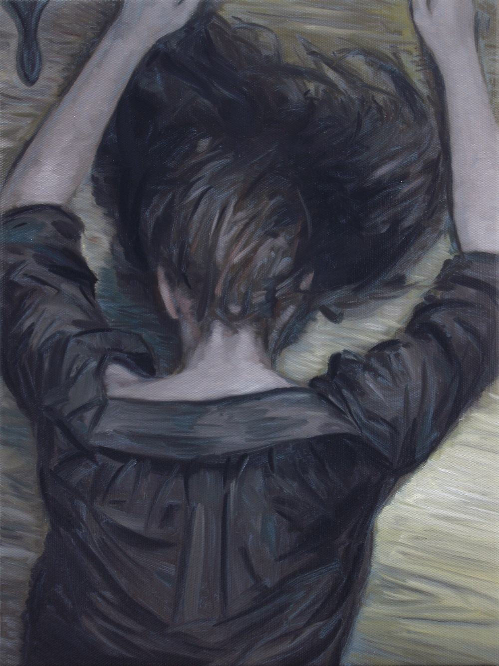 Down, 40x30cm, Oil on linen, 2013