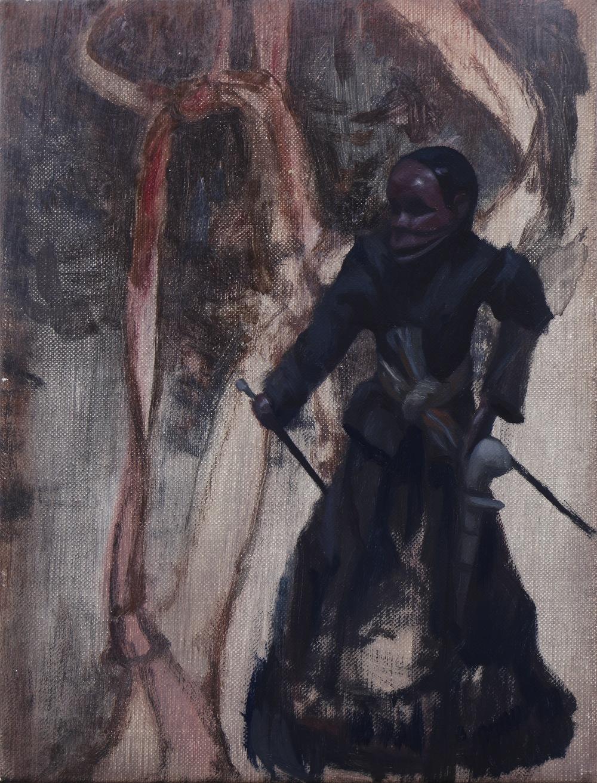 The Hex, Oil on linen, 24 x 18cm, 2014