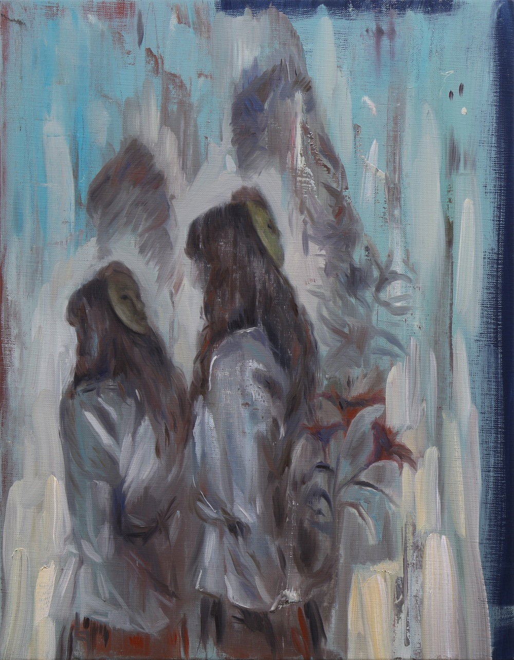 The Followers, Oil on linen, 45 x 35cm, 2014