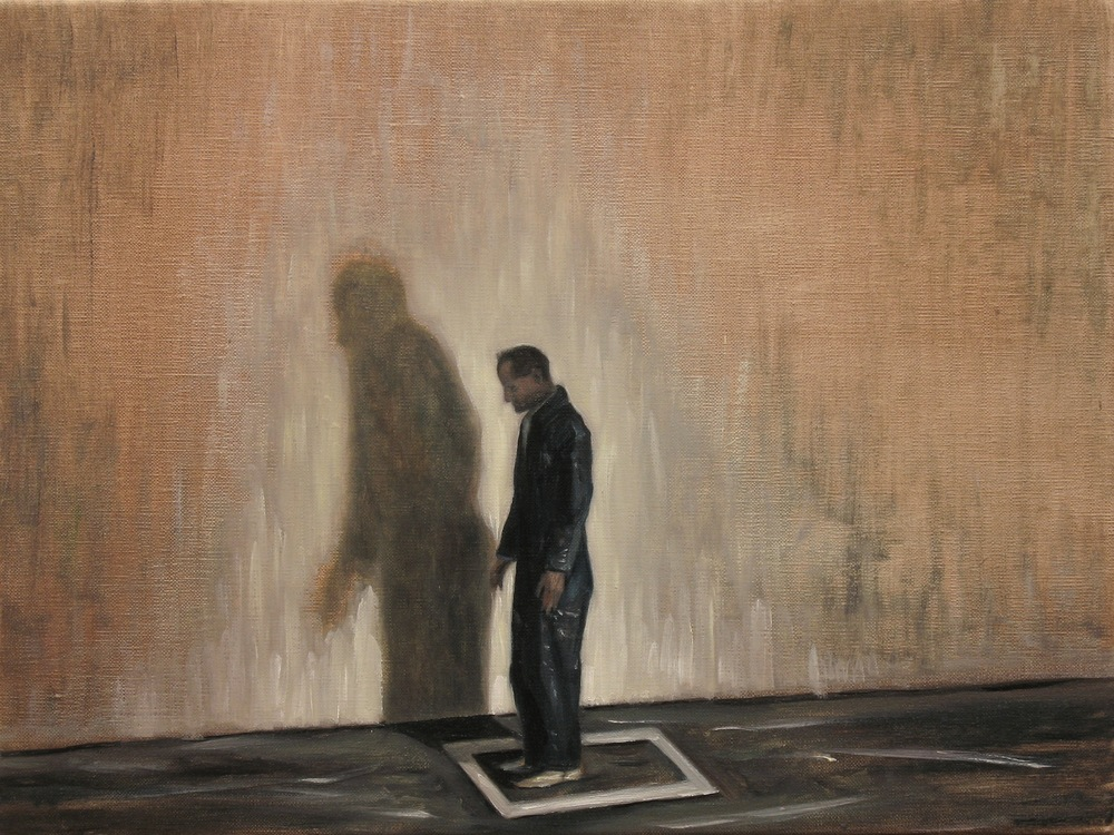 The White Square, Oil on linen, 30 x 40cm, 2013