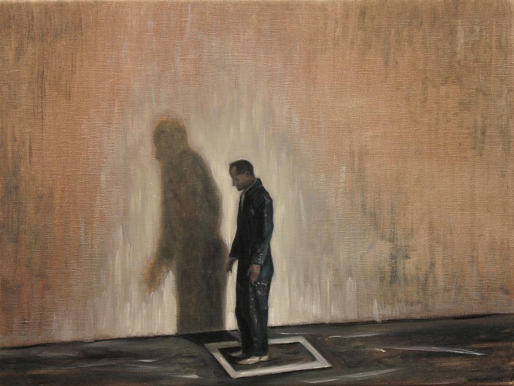 The White Square, Oil on linen, 30 x 40cm, 2013