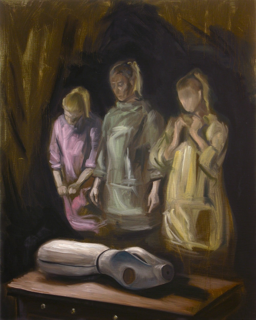 The Three, Oil on linen, 50 x 40cm, 2013