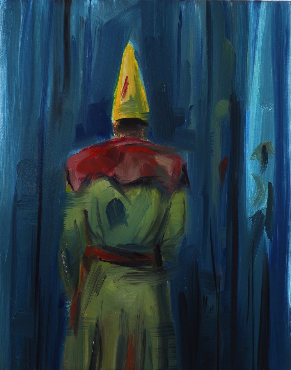 The Stand-in, Oil on linen, 30x24cm, 2016
