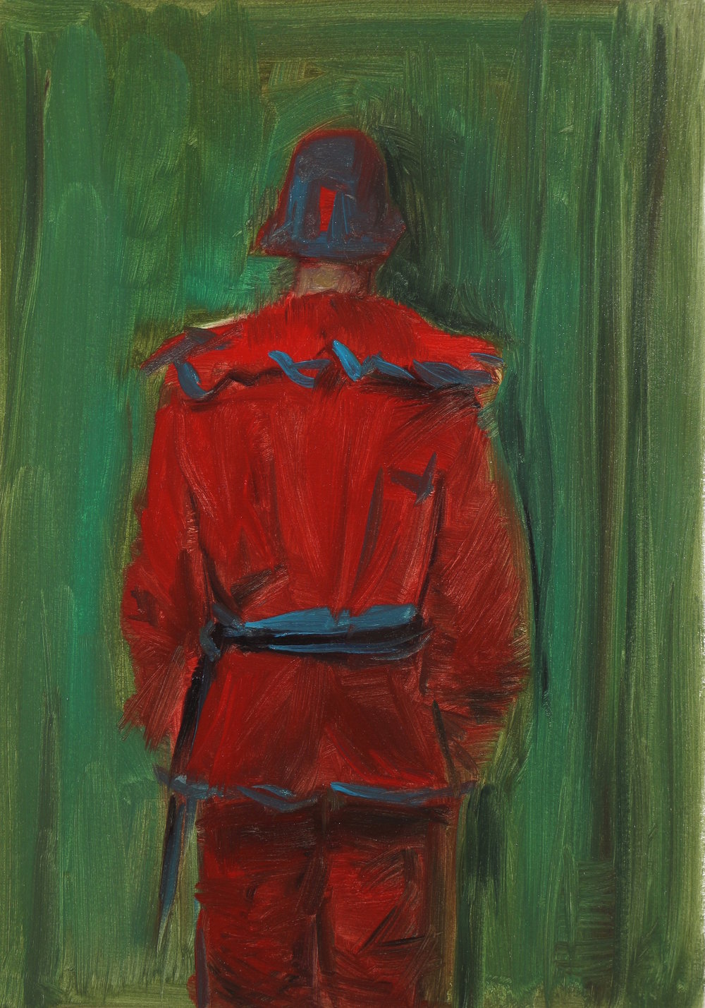 The Understudy, Oil on paper, 34x24cm, 2016
