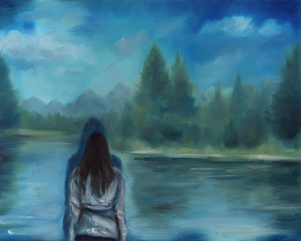 The View, Oil on Linen, 40x50cm, 2016
