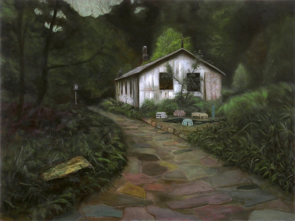 The Woods of Daedalus, Oil on wood panel, 80x60cm, 2010