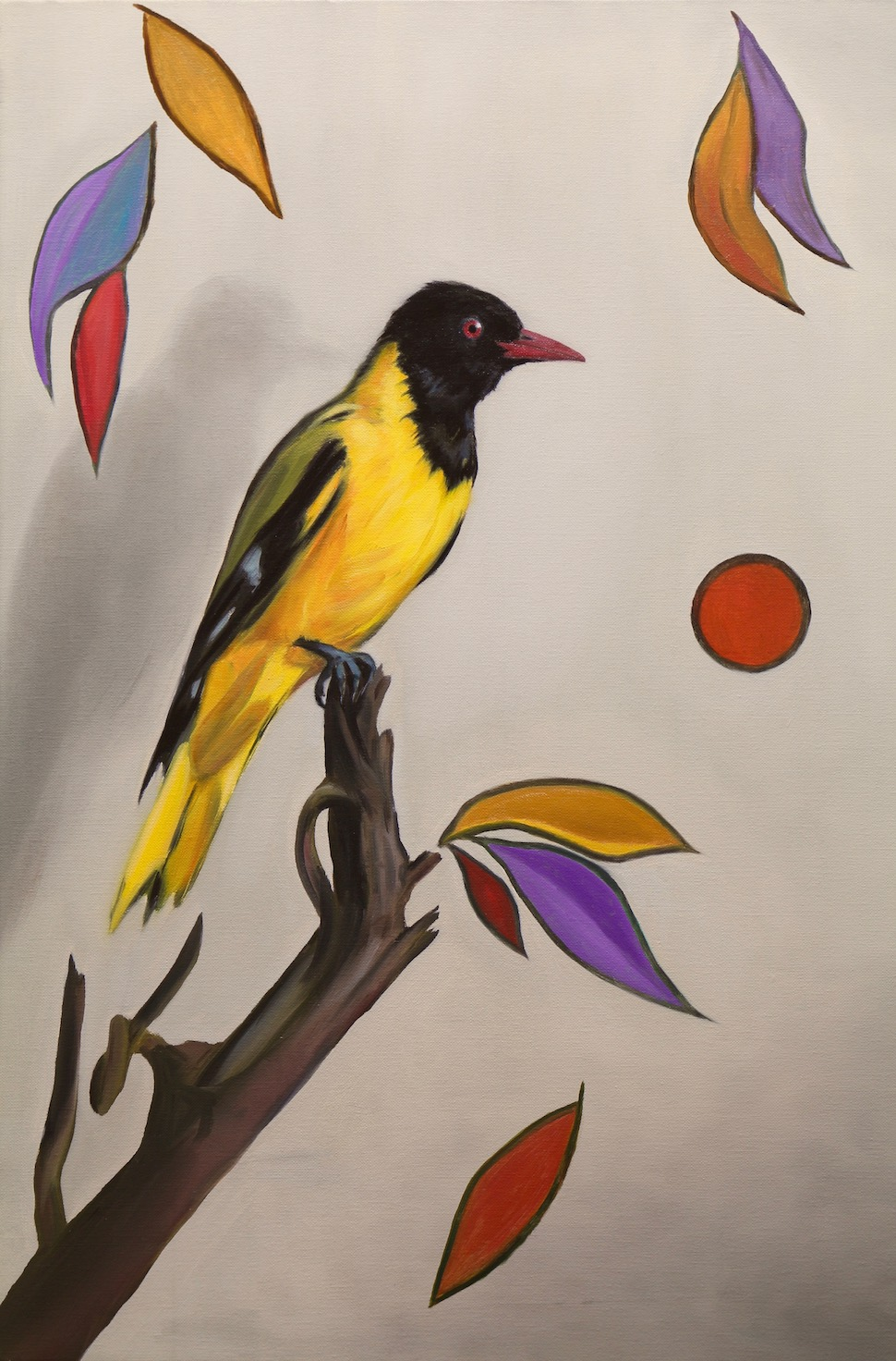 The Yellow Songbird, oil on linen, 60x40cm, 2018