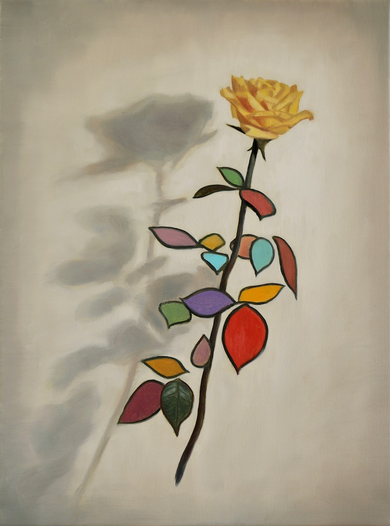 The Harlequin's Rose, oil on linen, 40x30cm, 2018