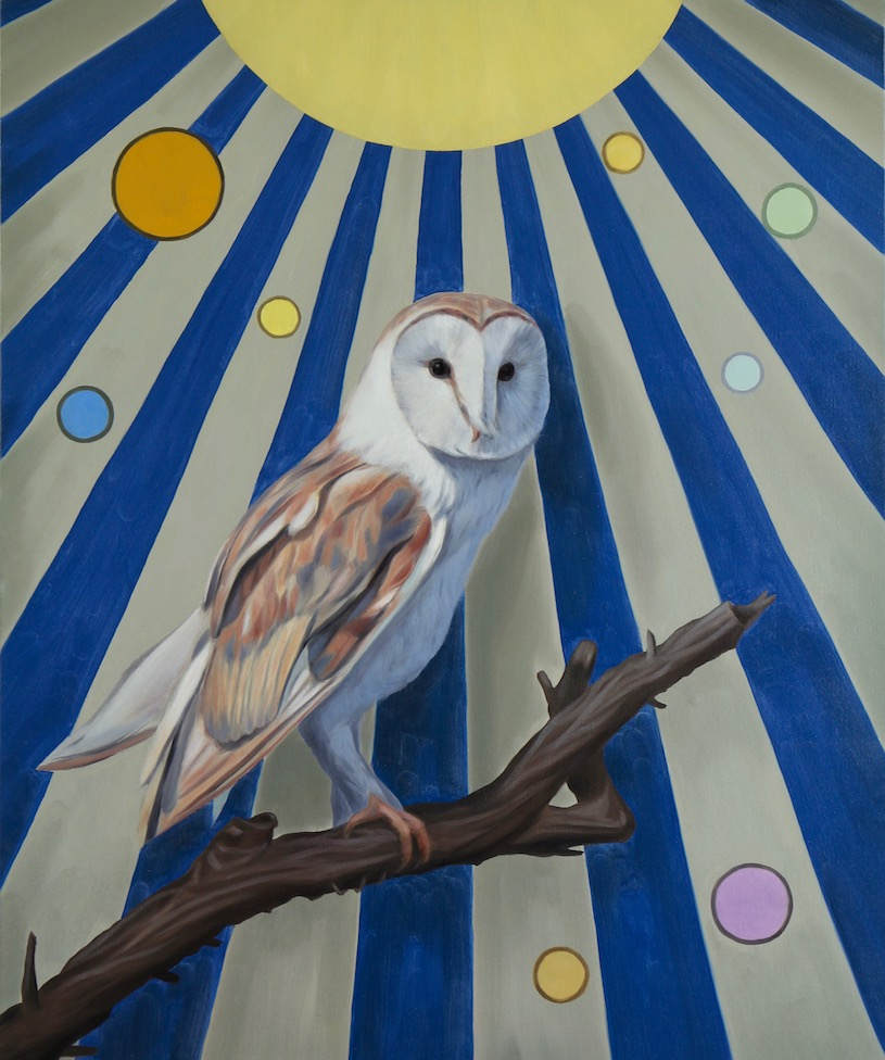 Night Owl, oil on linen, 60x50cm, 2018