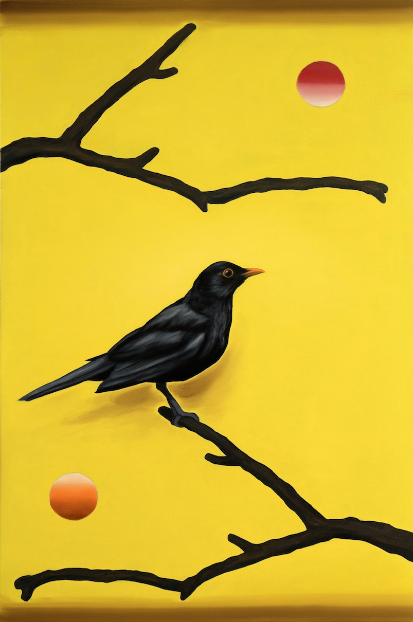 The Blackbird (Arrangement in Black and Gold), oil on canvas, 60x40cm, 2018