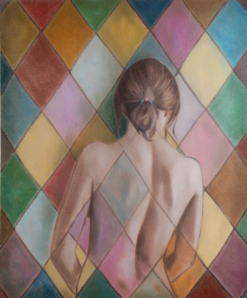 The Harlequin Dream, oil on canvas, 60x50cm, 2018