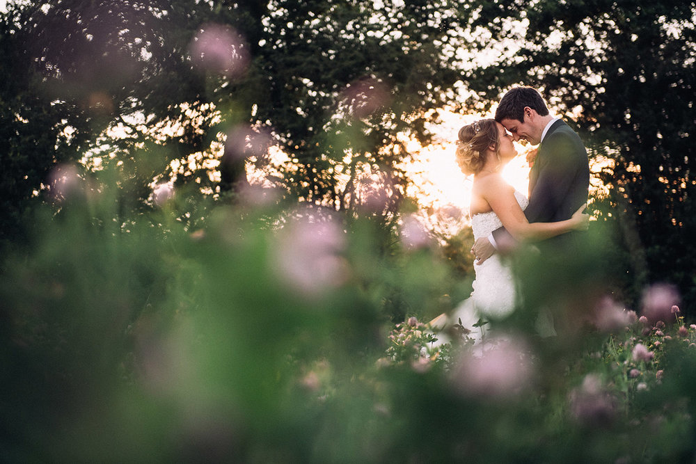 ColtsfordMill_weddingcouple_sunset
