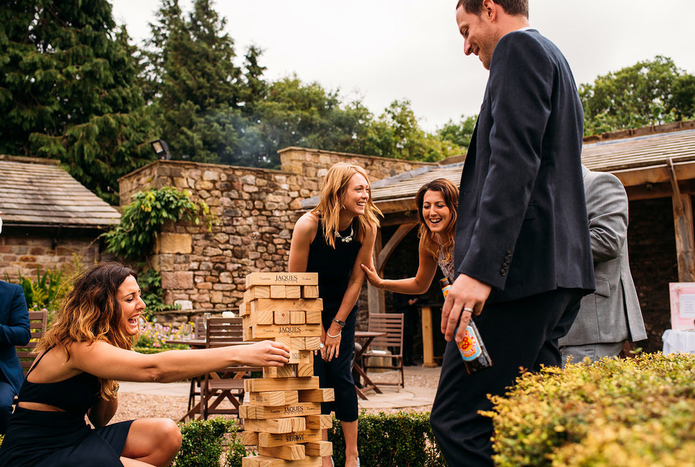 colour photo of jenga game