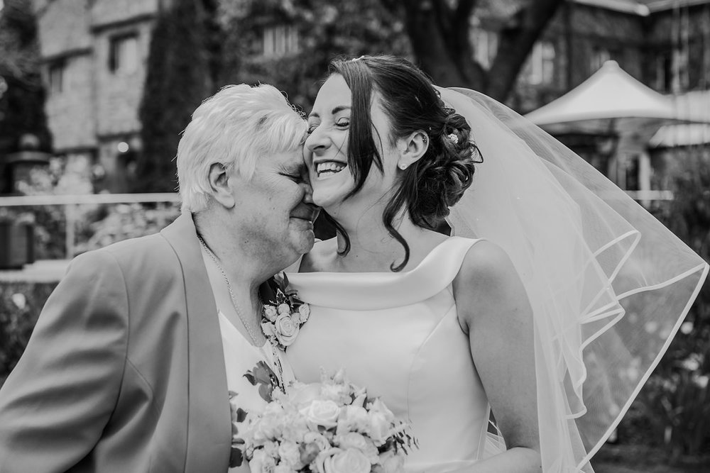 bride and her emotional gran