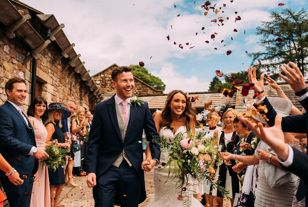 confetti shot at Browsholme hall