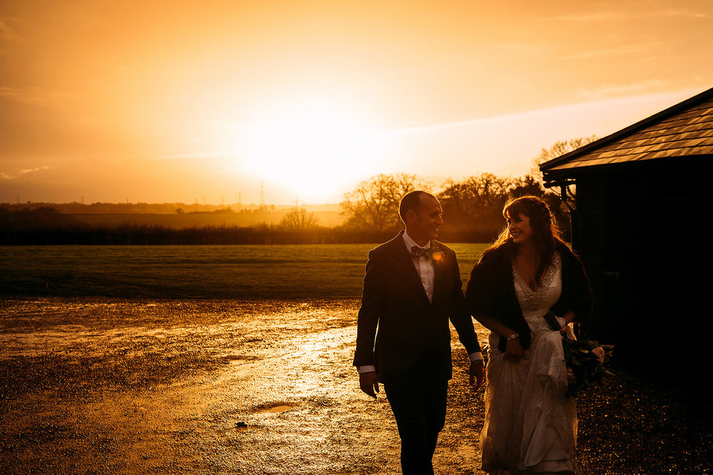 couple walking through the last light of 2017