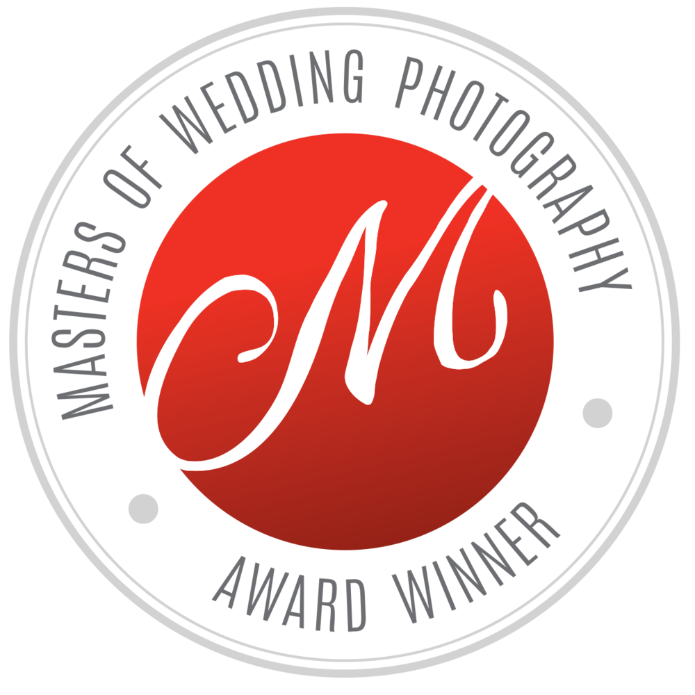 Masters of wedding photography award badge
