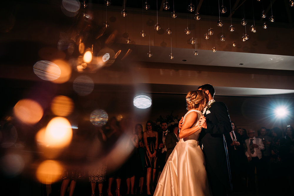 First dance shot through a candle