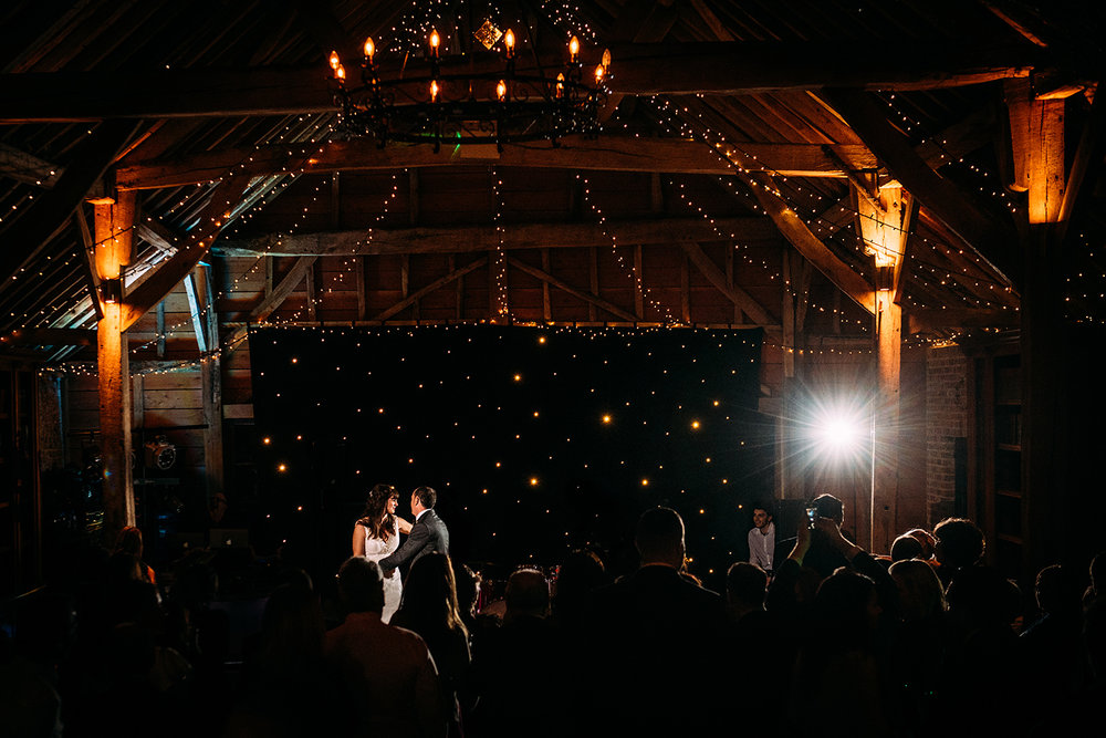 long distance shot of the first dance