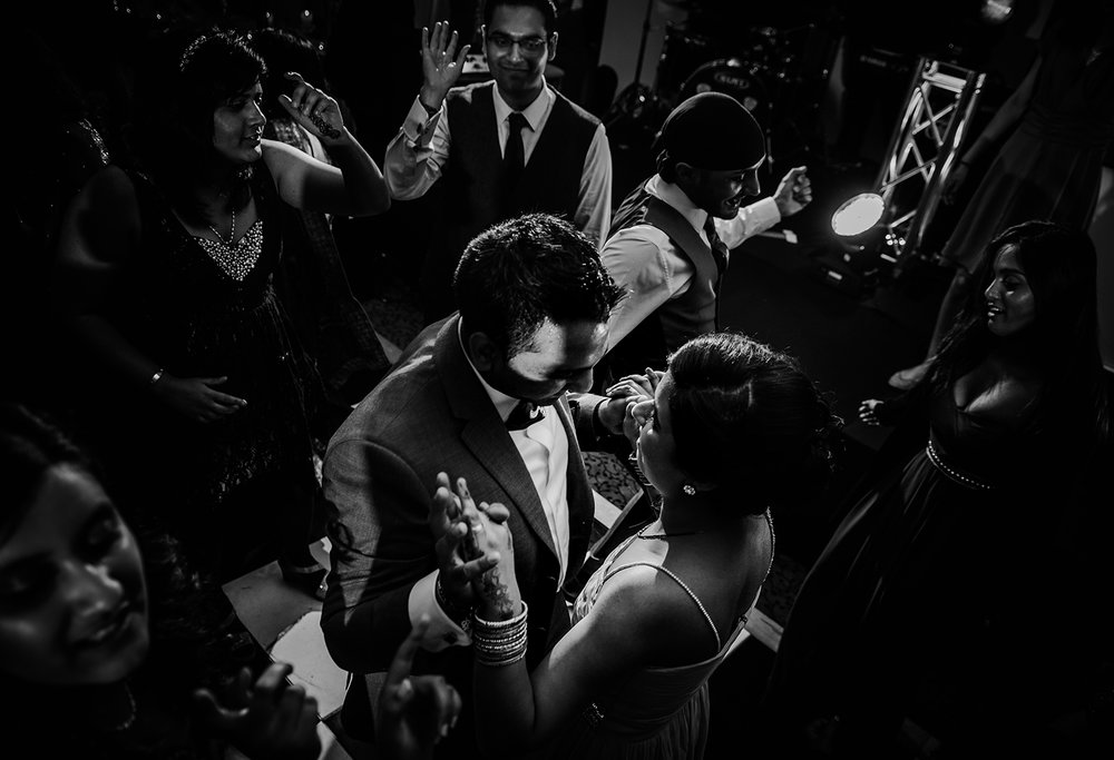 bw photo of guest on the dancefloor