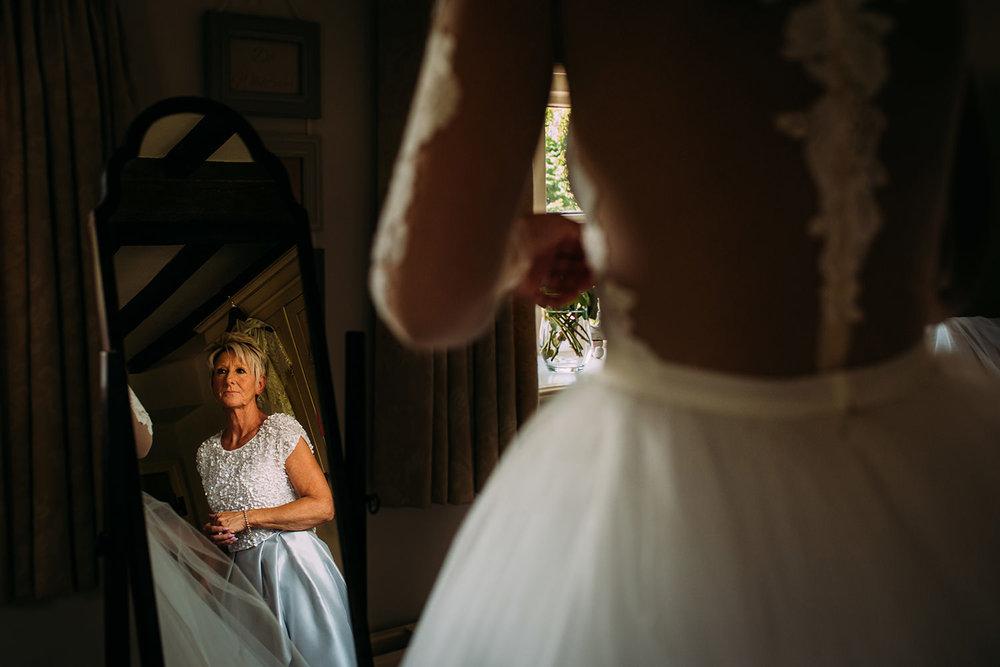 bride's mum looking on