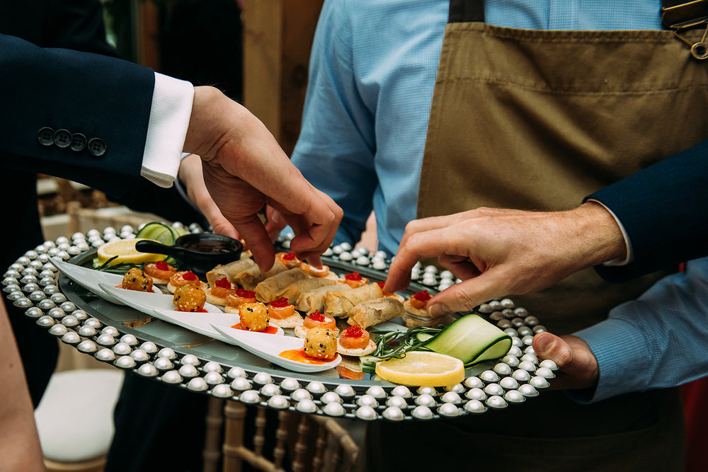 taking canapes