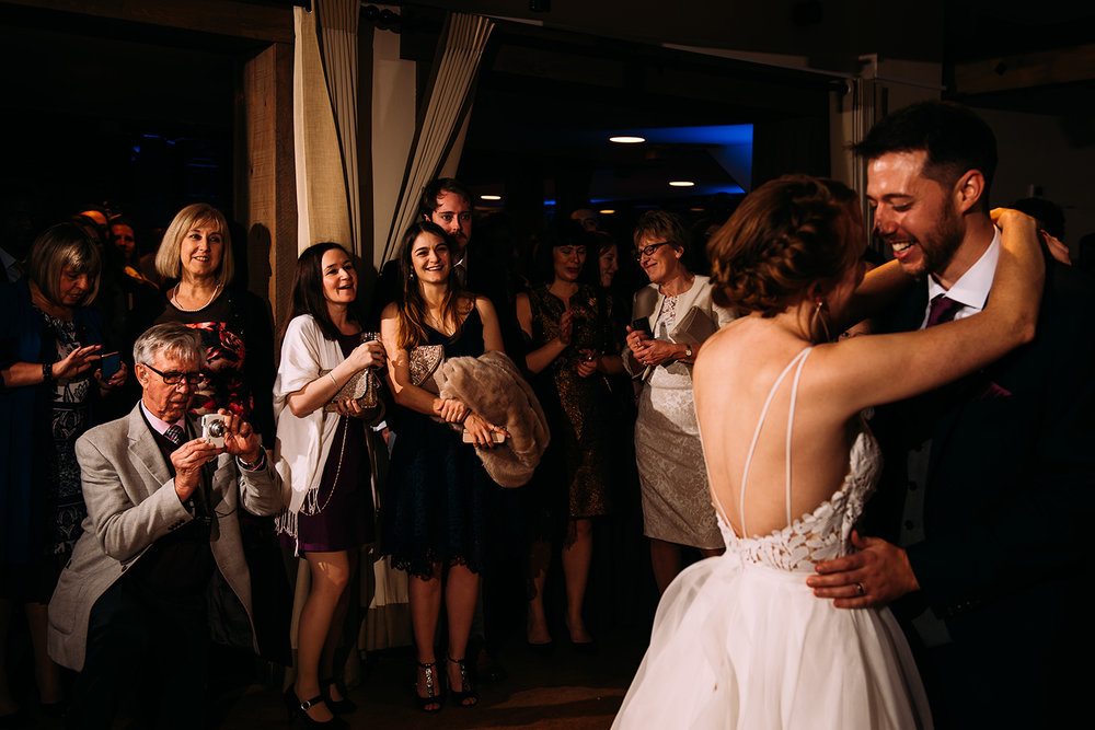 guests watching the first dance