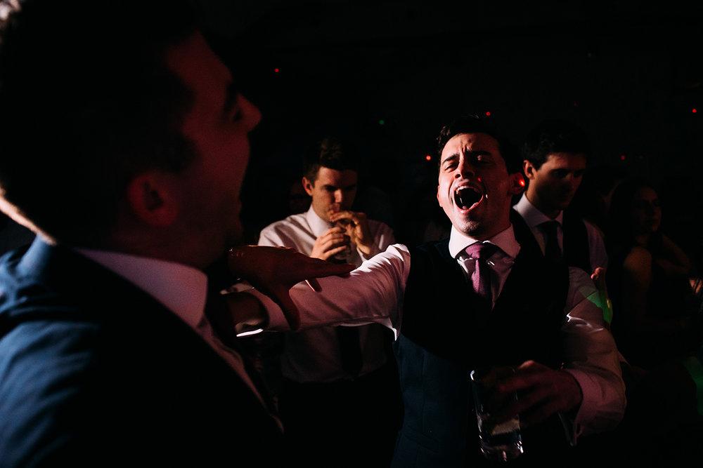 screaming on the dance floor