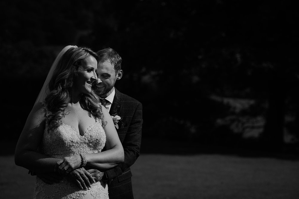 bw photo of the bride and groom