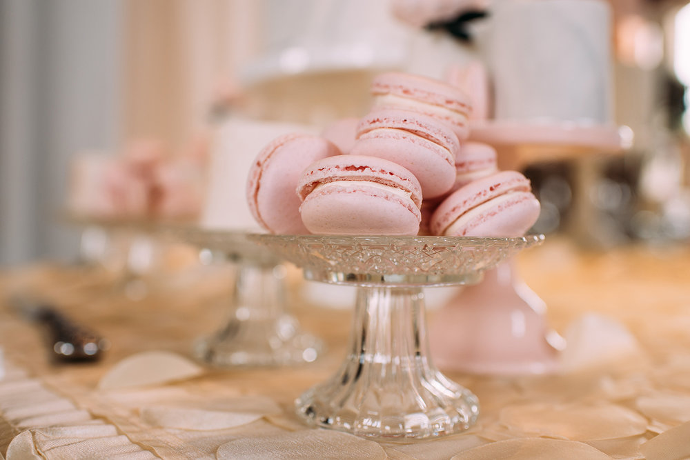 macarons on the table for the guests