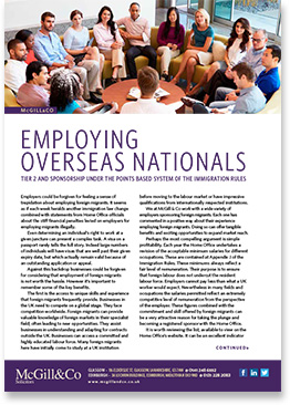 Employing Overseas Nationals