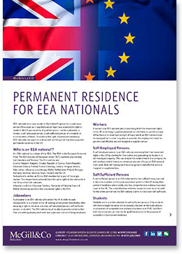 Permanent Residence for EEA Nationals