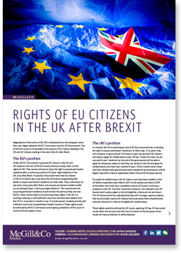 Rights of EU citizens  in the UK after Brexit