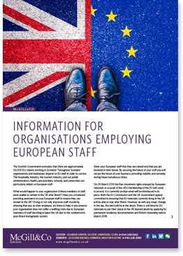 Information for organisations employing European staff