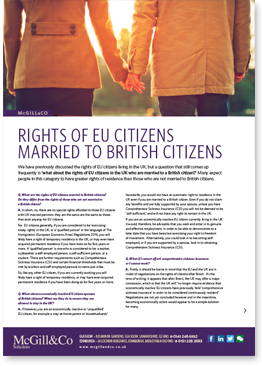 Rights of EU Citizens married to British Citizens