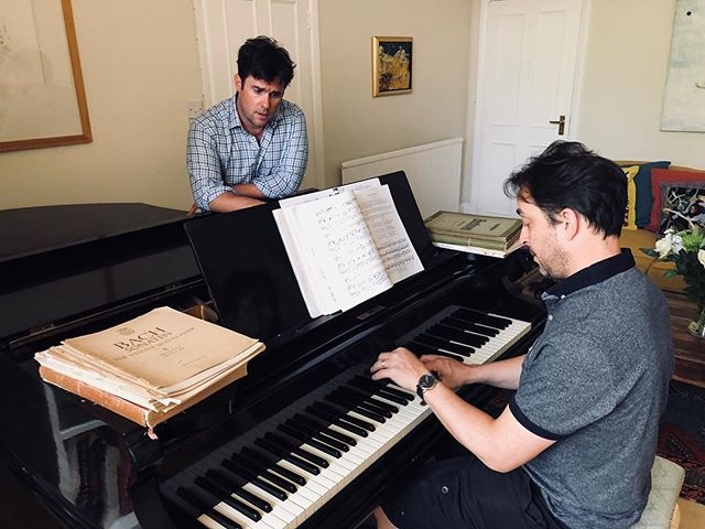 Not sure if this is Nicholas Mulroy's concentration face or his jazz face. Either way, it's great for us to be working with Jason Rebello again for our concert @wigmore_hall on 13 July 2018 at 10pm.